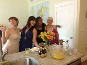Myself and guests post mimosa-devouring